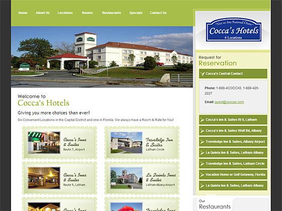 Coccas Hotels - Fontpage
