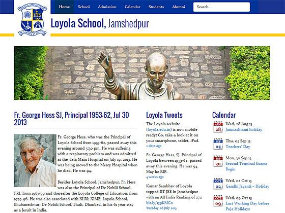 Loyola School, Jamshedpur - Home Page