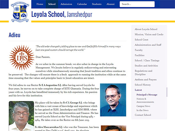 Loyola School, Jamshedpur - An article page