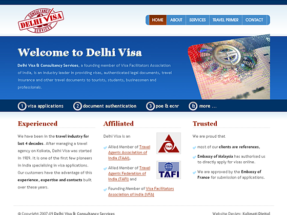Delhi Visa & Consultancy services - Home Page