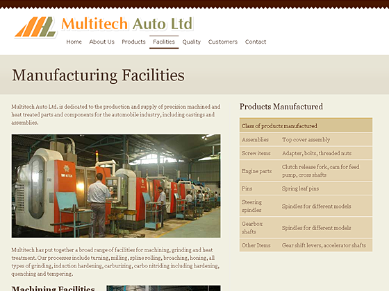 Multitech Auto Ltd. - Facilities page