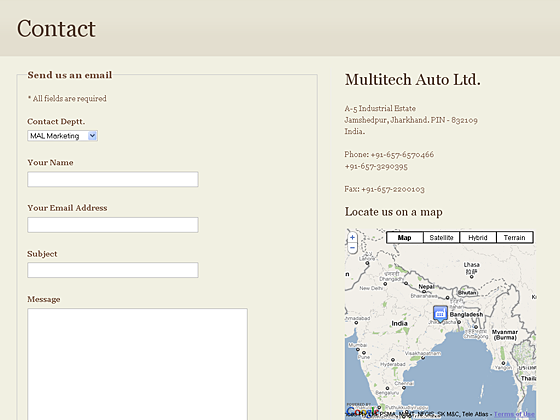 Multitech Auto Ltd. - Contact page