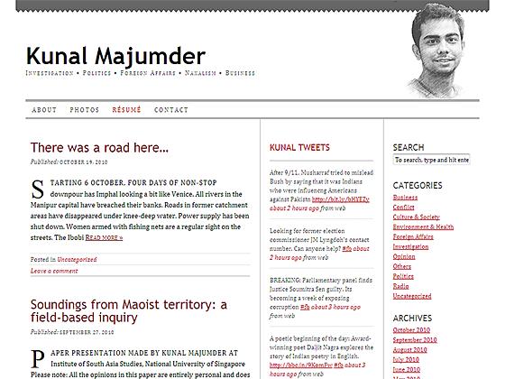 Kunal Majumder - Home page