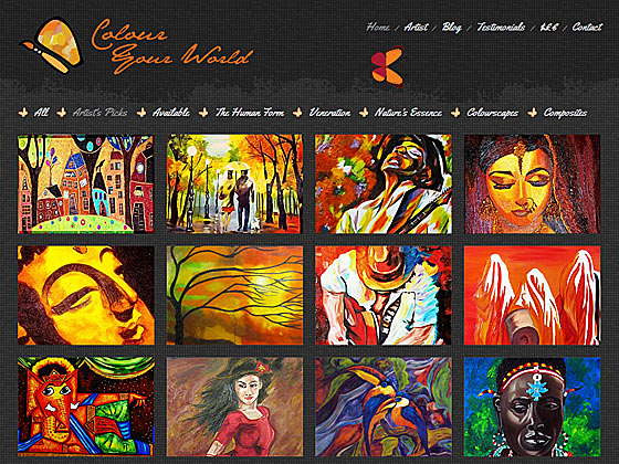 Colour Your World - Home Page