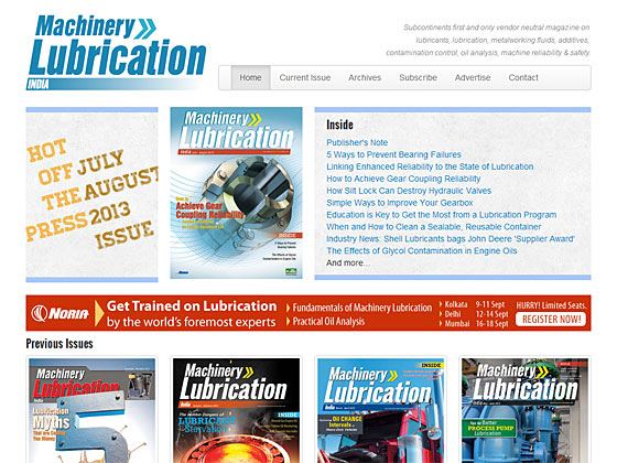 Machinery Lubrication India - Curent Issue