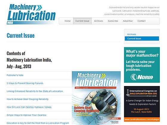 Machinery Lubrication India - Article